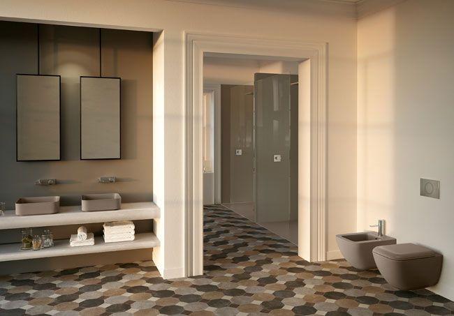 Badkamer italiaans design waskommen van ultradun keramiek shui