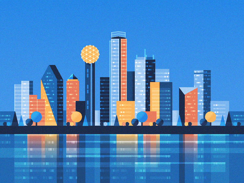 Dallas Skyline Dallas Skyline Skyline Drawing Skyline Painting