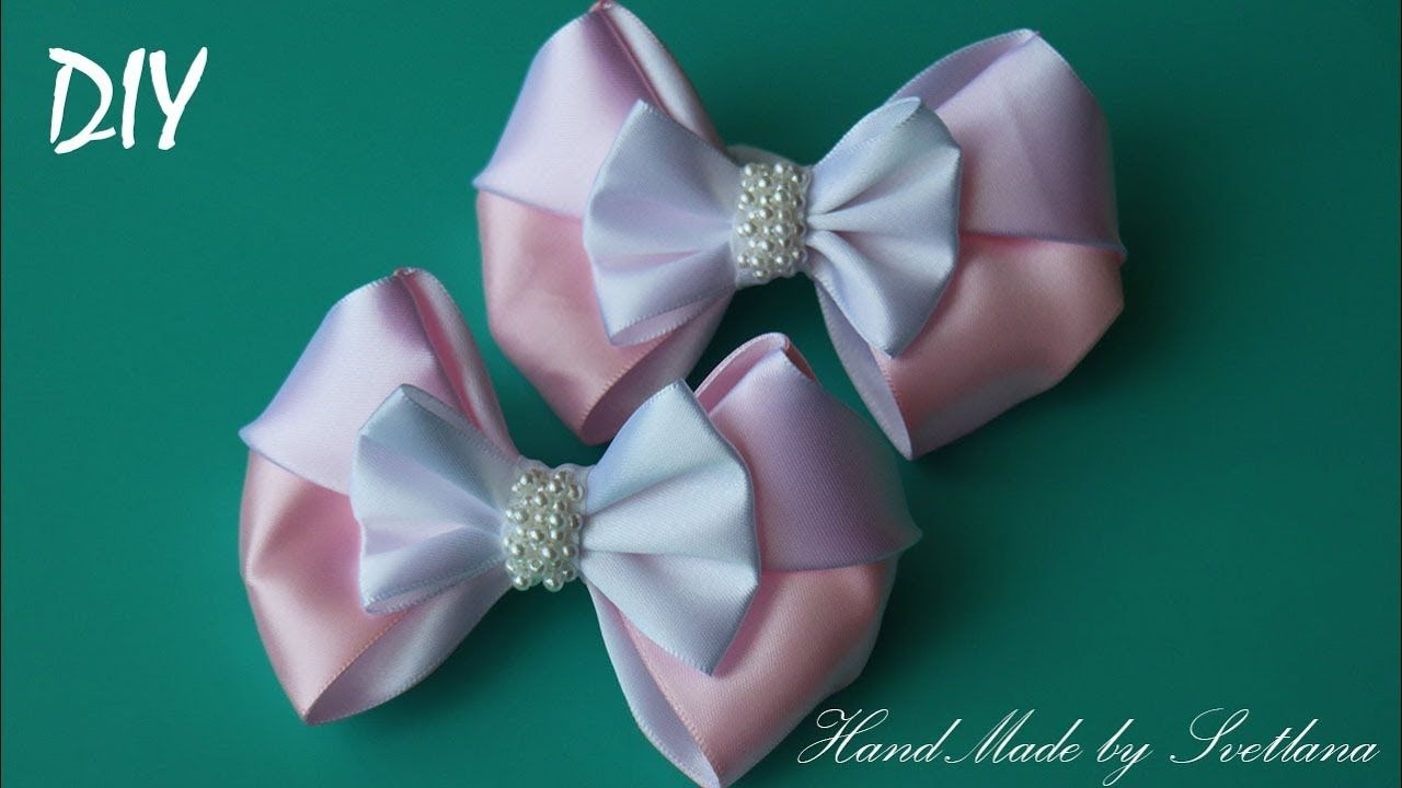 Rubber bands made of satin ribbon, Kanzash for beginners ideas and master classes
