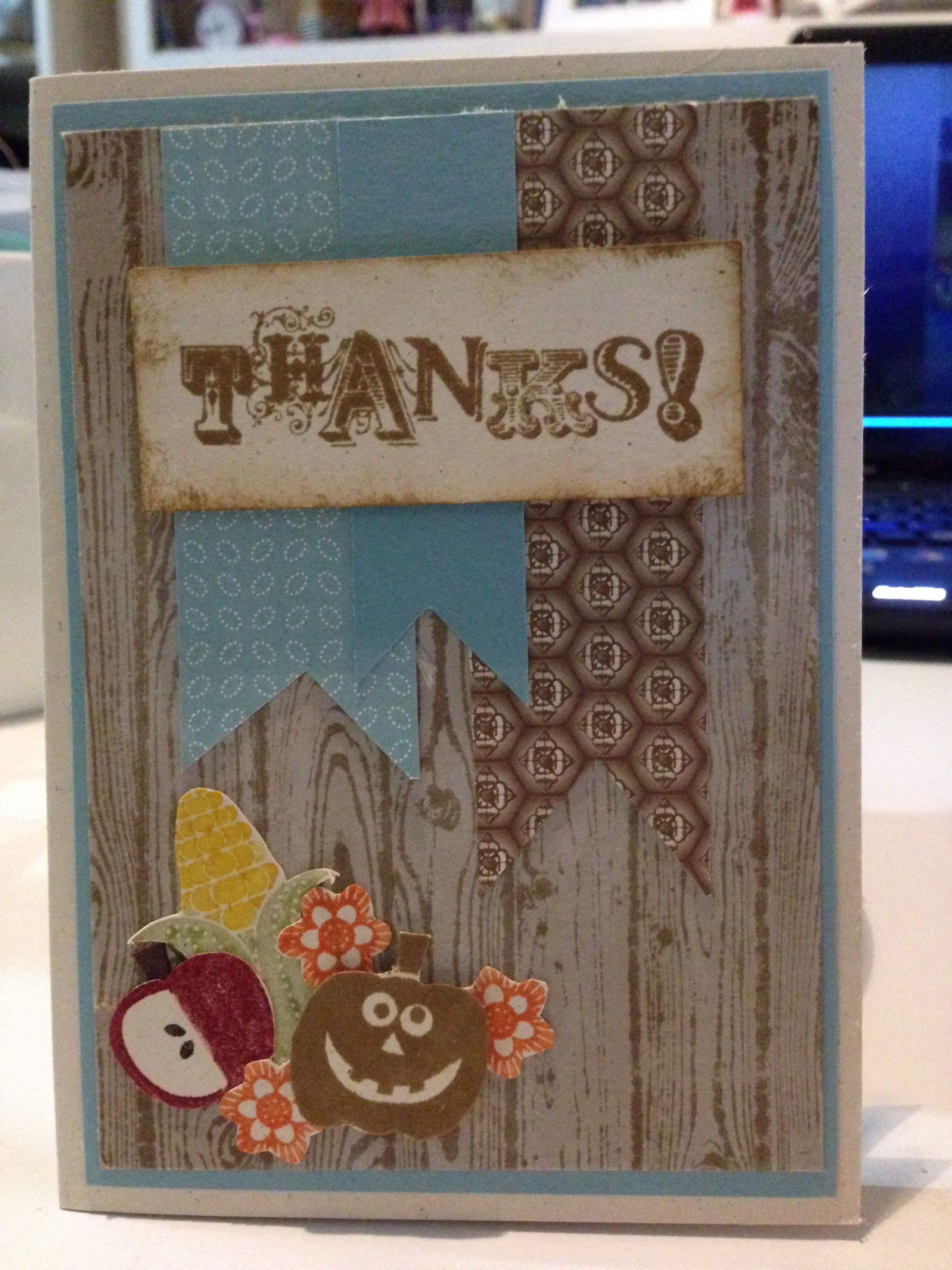 Male thank you card