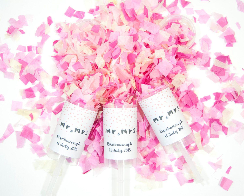 Set of 30 Wedding Confetti Poppers - Wedding Confetti Bags- Wedding ...