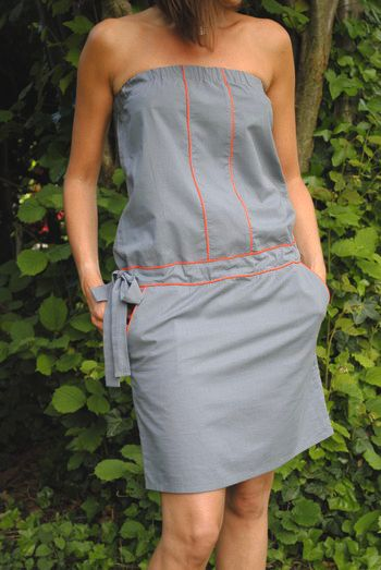 8d44fea4a71 robe bustier avec passepoil