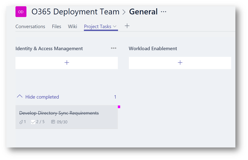 Microsoft Teams Using Planner To Stay Organized In 2021 Project Management Templates Task Management Bar Graphs