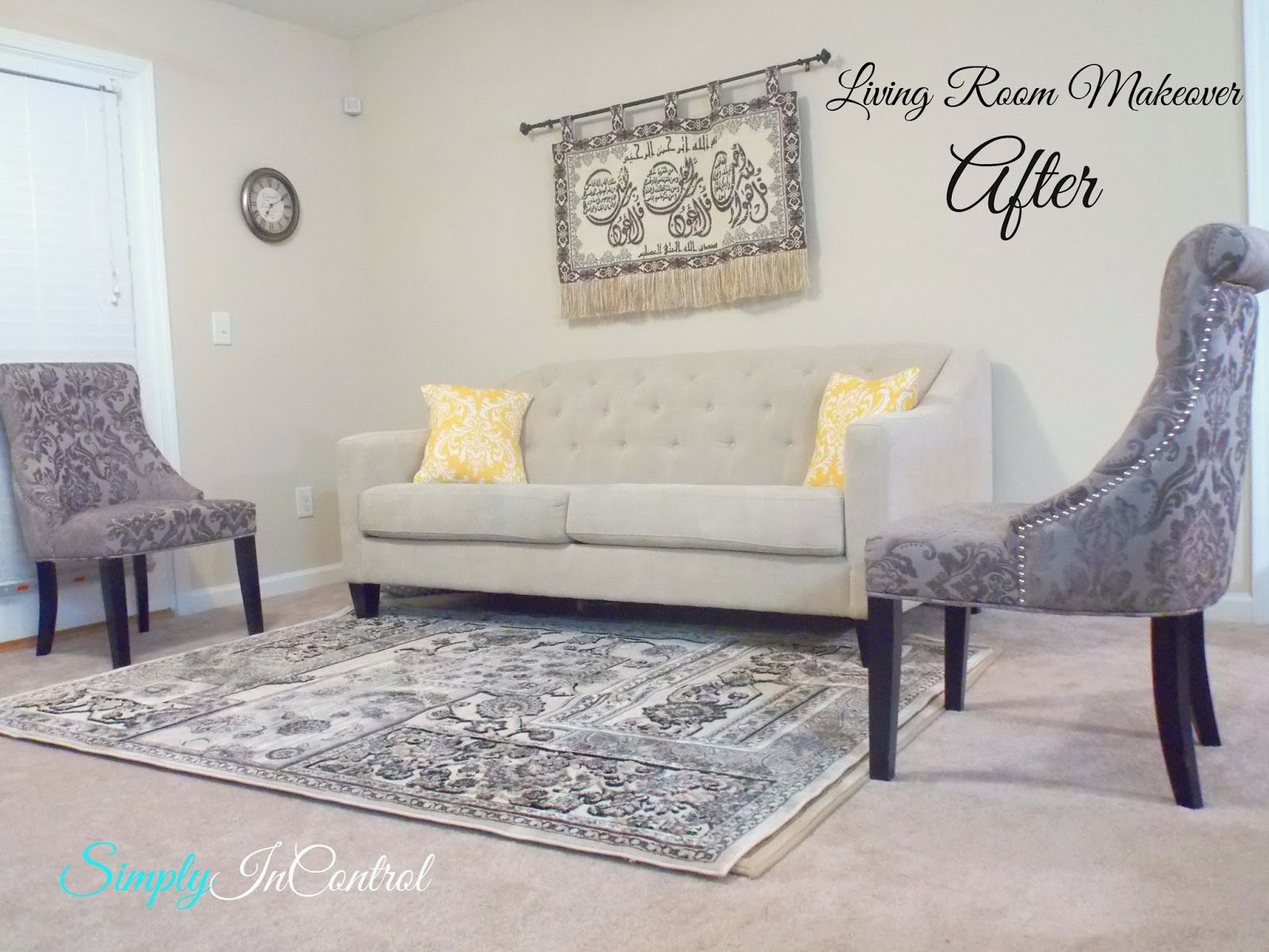 Apartment Living Room Makeover - After! Home Goods has the BEST ...