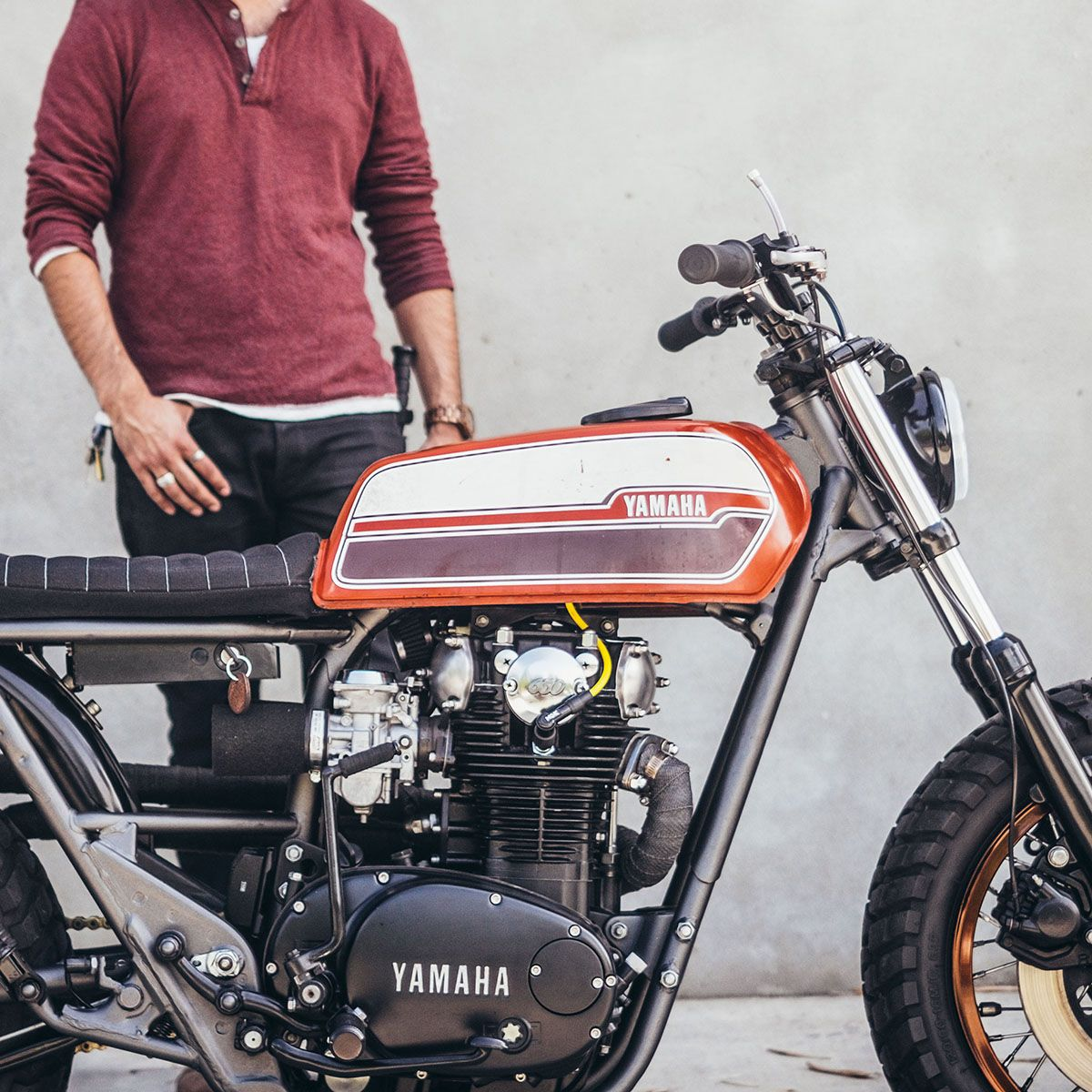 minabear 1983 yamaha xs650 motorcycles cafe racer pinterest