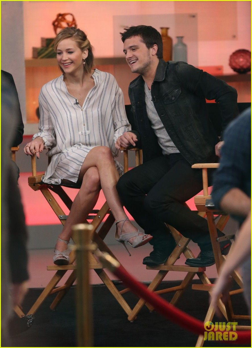 'Hunger Games' Trio Jennifer Lawrence, Liam Hemsworth, & Josh Hutcherson Are the Ultimate BFFs on 'GMA'