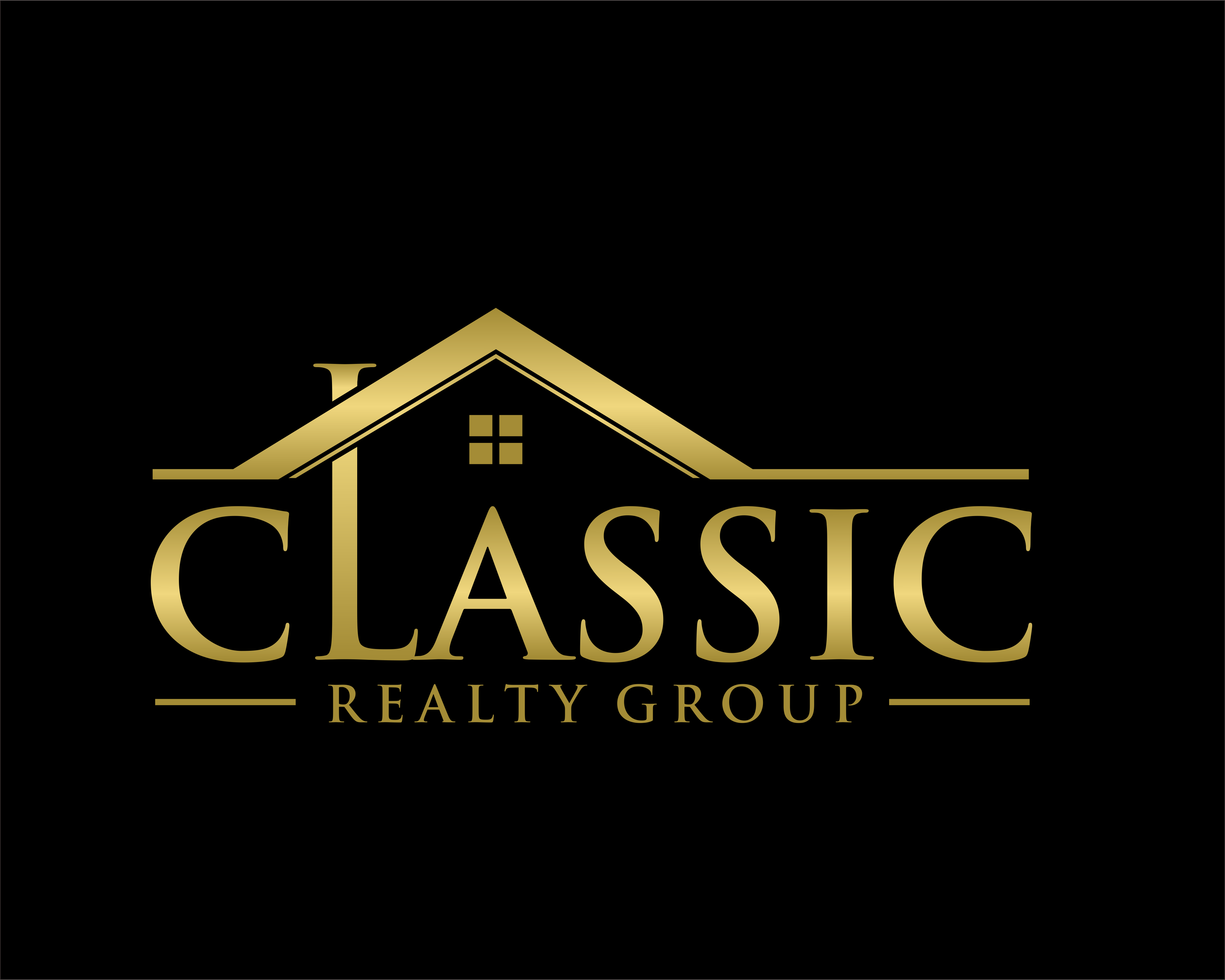 Gold Gradient Logo for Real Estate Company realestate