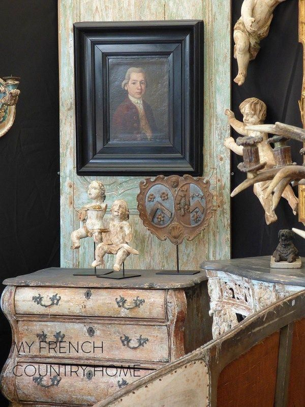 antiques at the chatou brocante fair #frenchcountrydecor Country