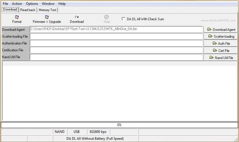 auth authentication file for sp flash tool