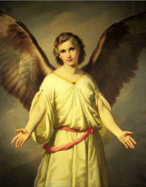 Arch Angel Gabriel, by Paul Emil Jacobs (1802-1866)