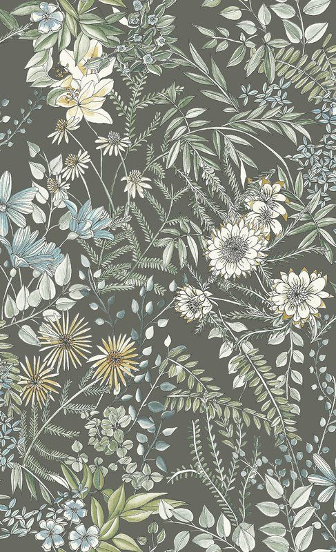 "Mansfield Floral 33' L x 20.5"" W Wallpaper Roll"