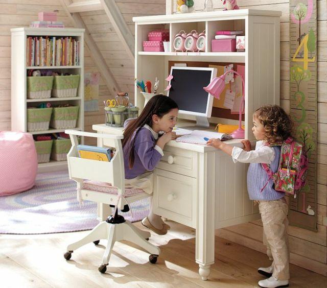 m dchenzimmer lernplatz ideen einrichtung stauraum bibliothek zimmer m dchen pinterest. Black Bedroom Furniture Sets. Home Design Ideas