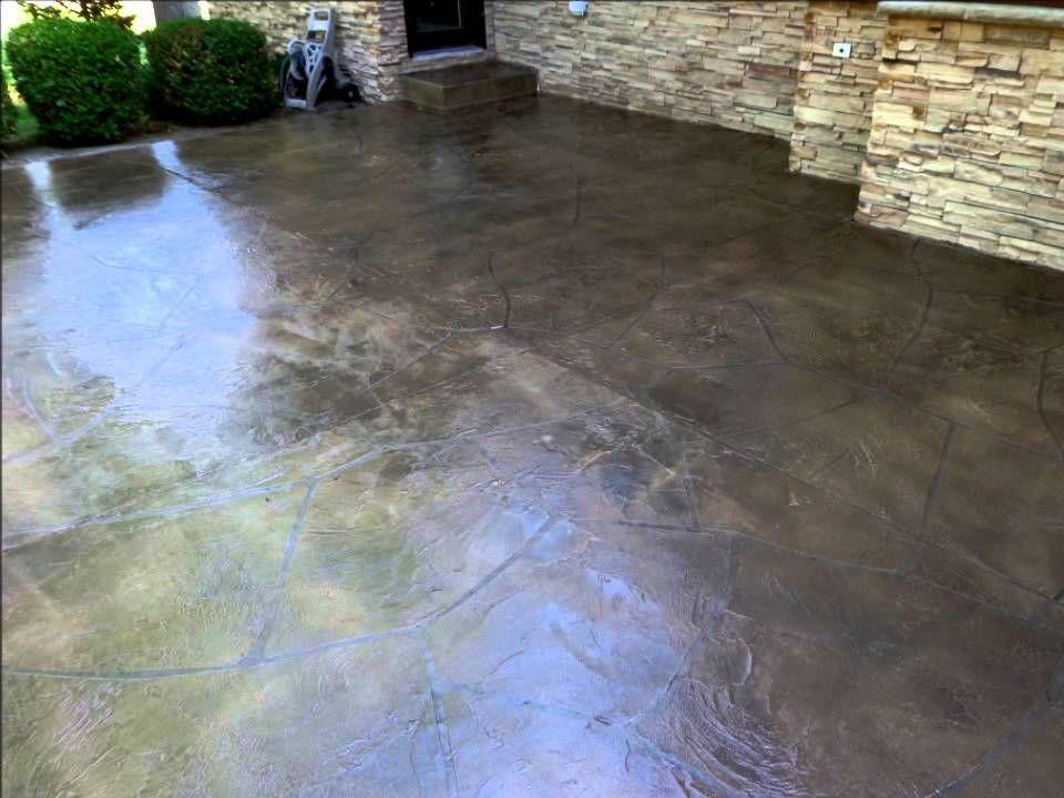 Patio Concrete Resurfacing Flagstone