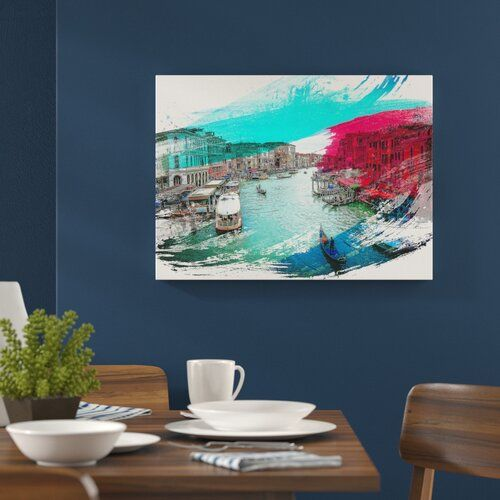 Photo of East Urban Home Poster Gondolas and Boats in Venice Wayfair.de