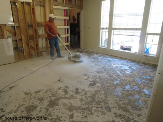 The Best Way To Remove Thinset From A Cement Foundation Tile Removal Diy Flooring Concrete Floors