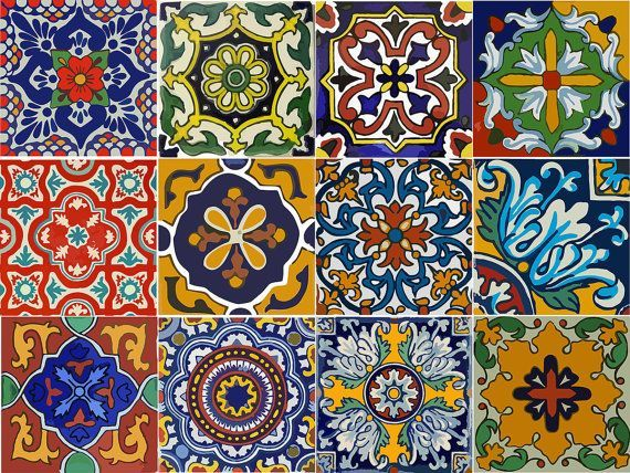 Kitchen Cabinet Drawer Tile Decal Mexican Talavera Style 12 Designs Tile Decals Stair Decals Talavera Tiles