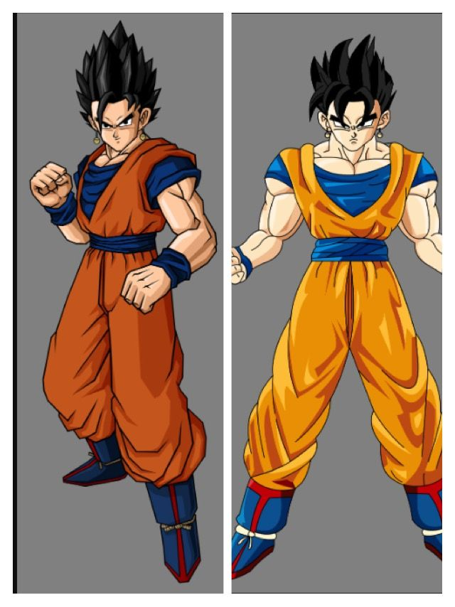 What If Gohan Caught The Potara Earring And Fused With Goku Which One Do You Like Better Dragon Ball Dragon Ball Z Animation Art