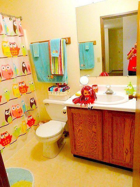Owl Bathroom Decor Kids Bathroom Themes Owl Bathroom