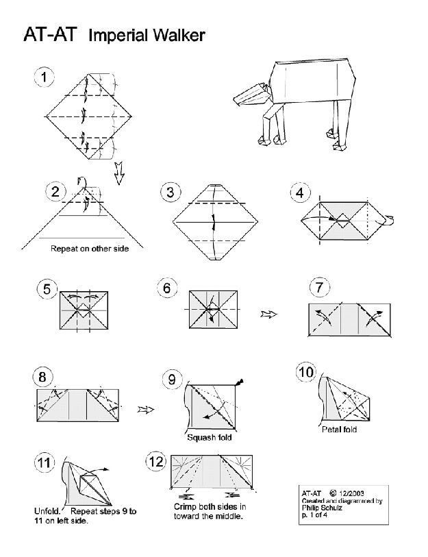 10 Diagrams To Create Your Own Star Wars Origami Star Wars