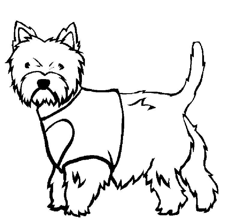 White Dog Coloring Pages | Dog coloring page, Cat coloring ...