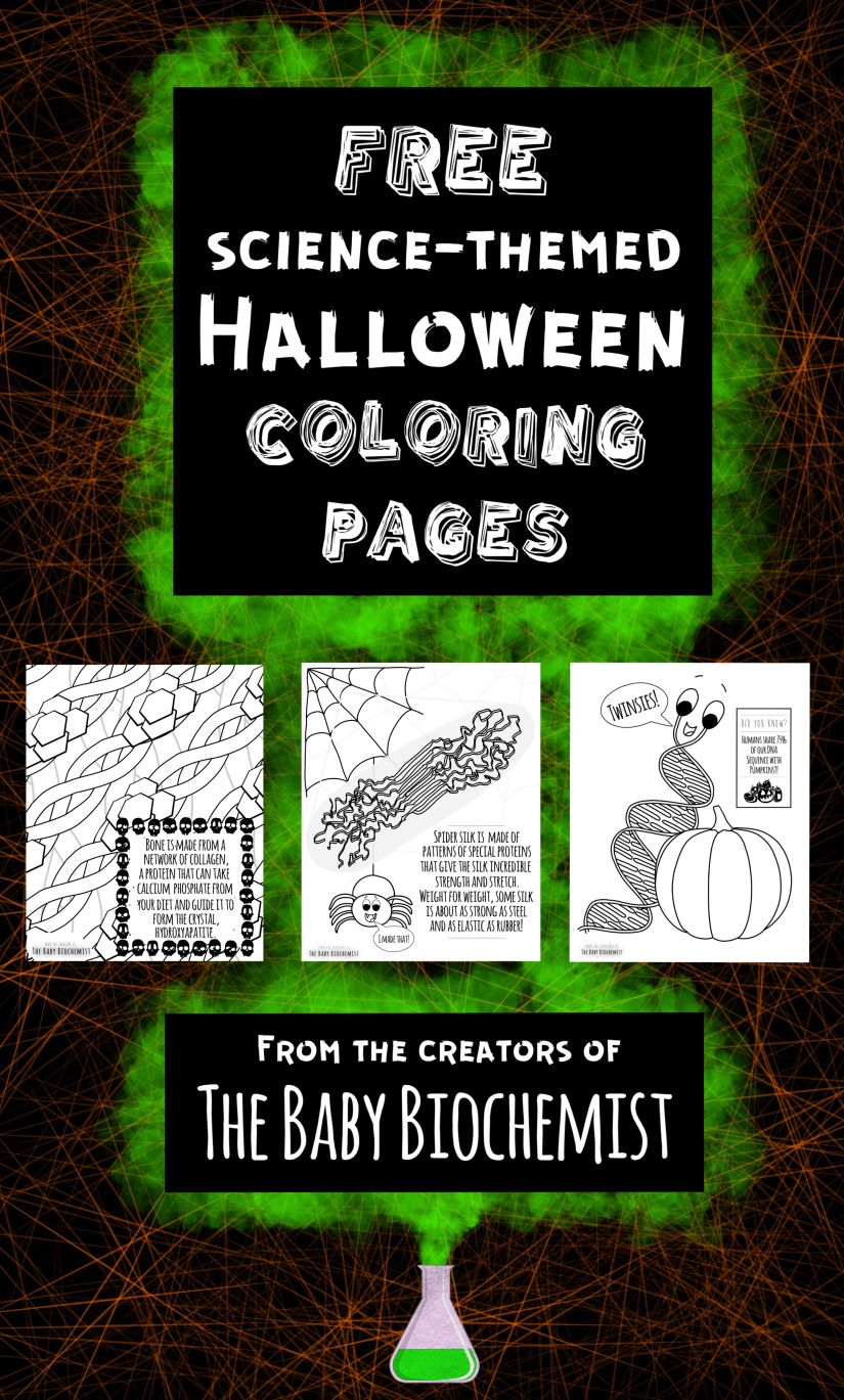 Free Halloween Science Coloring Pages! | Halloween science