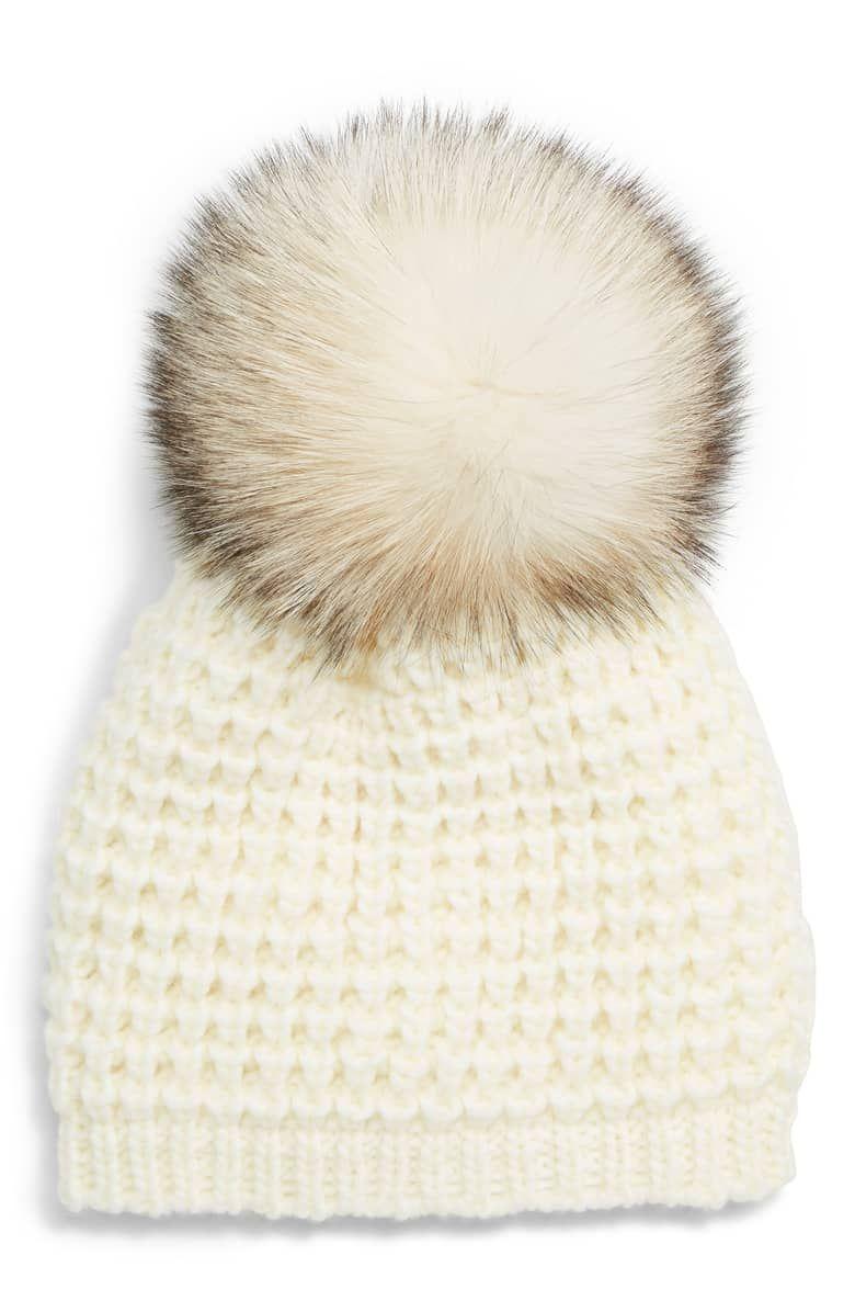81ad6c894e2 Genuine Fox Pompom Hat