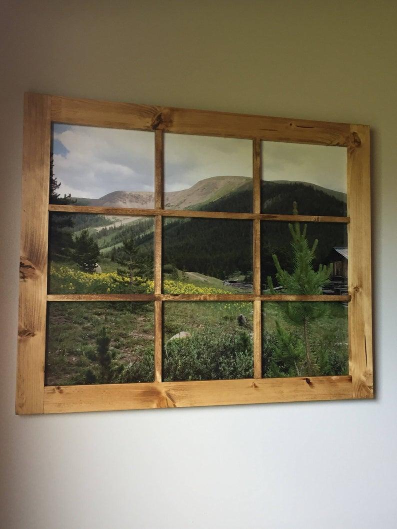 Amazonsmile Barnyard Designs Rustic Barn Wood Window Frames Decorative Country Farmhouse Home Wall Decor W Barn Wood Frames Wood Window Frame Rustic Window