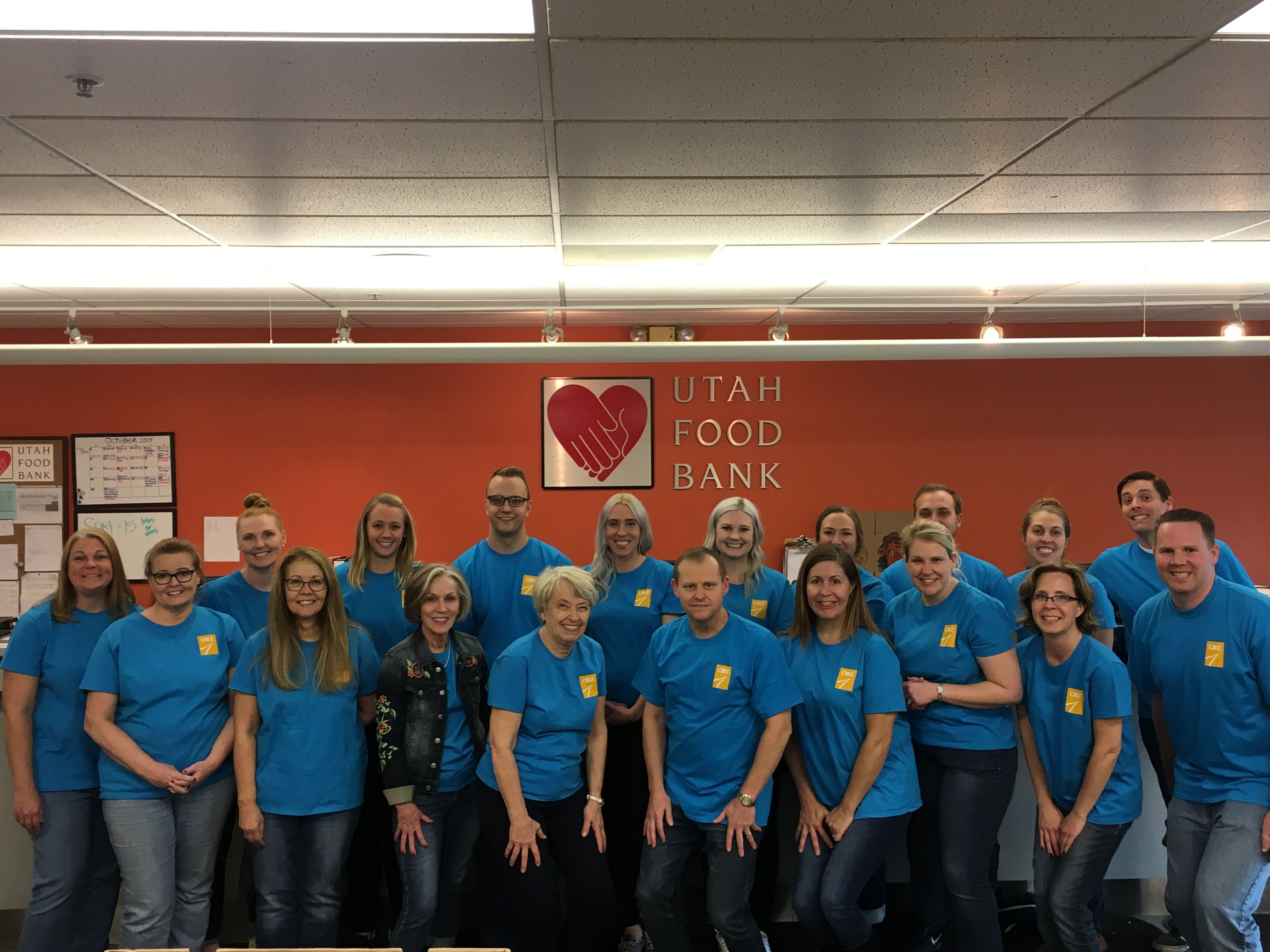 Volunteers from salt lake city helped fight hunger