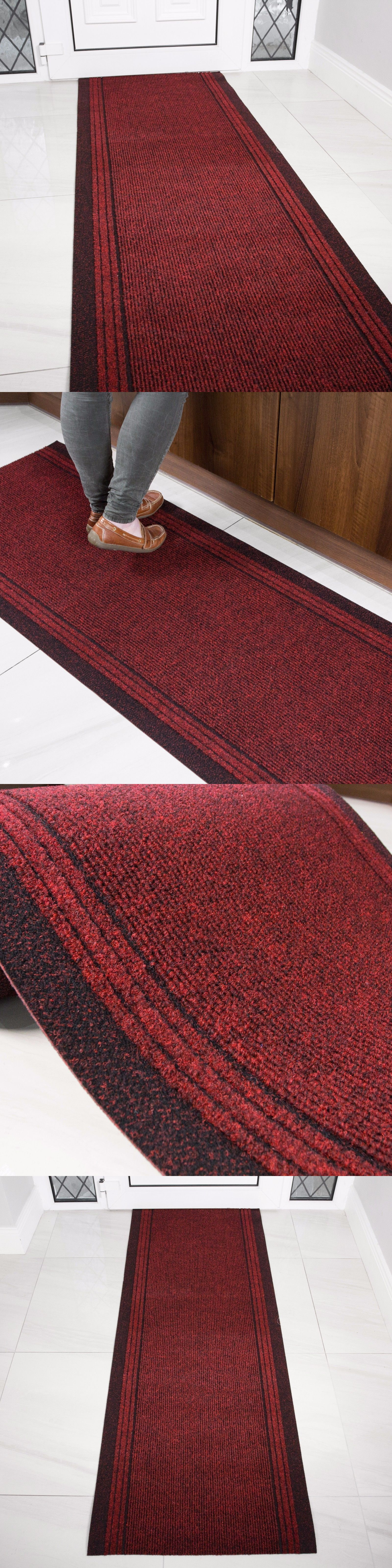 Runners 20574 Rust Red Rubber Backed Very Long Hallway Hall Runner Narrow Rugs Custom Length It Now Only 41 45 On Ebay