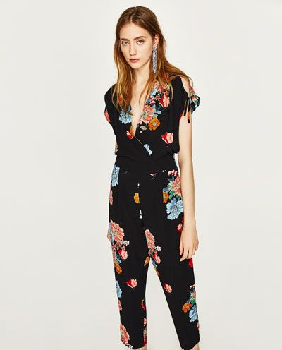 dadf89167fe1 Image 2 of FLORAL PRINT JUMPSUIT from Zara