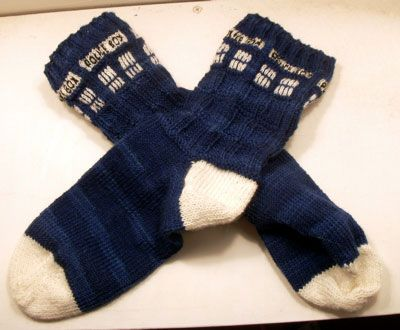 mwahahaha. 2 favorite things! the doctor and socks!!