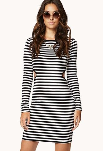 864765dc569 FOREVER 21 Black and White Striped Dress