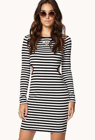 Black and white striped dress pinterest