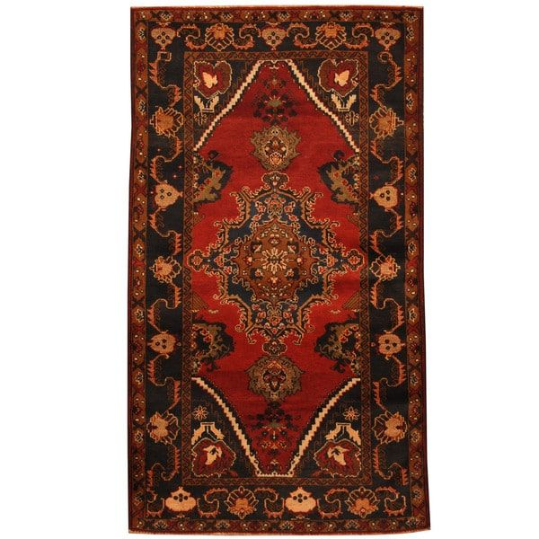 Herat Oriental Afghan Hand Knotted 1960s Semi Antique Tribal Balouchi Wool Rug 3