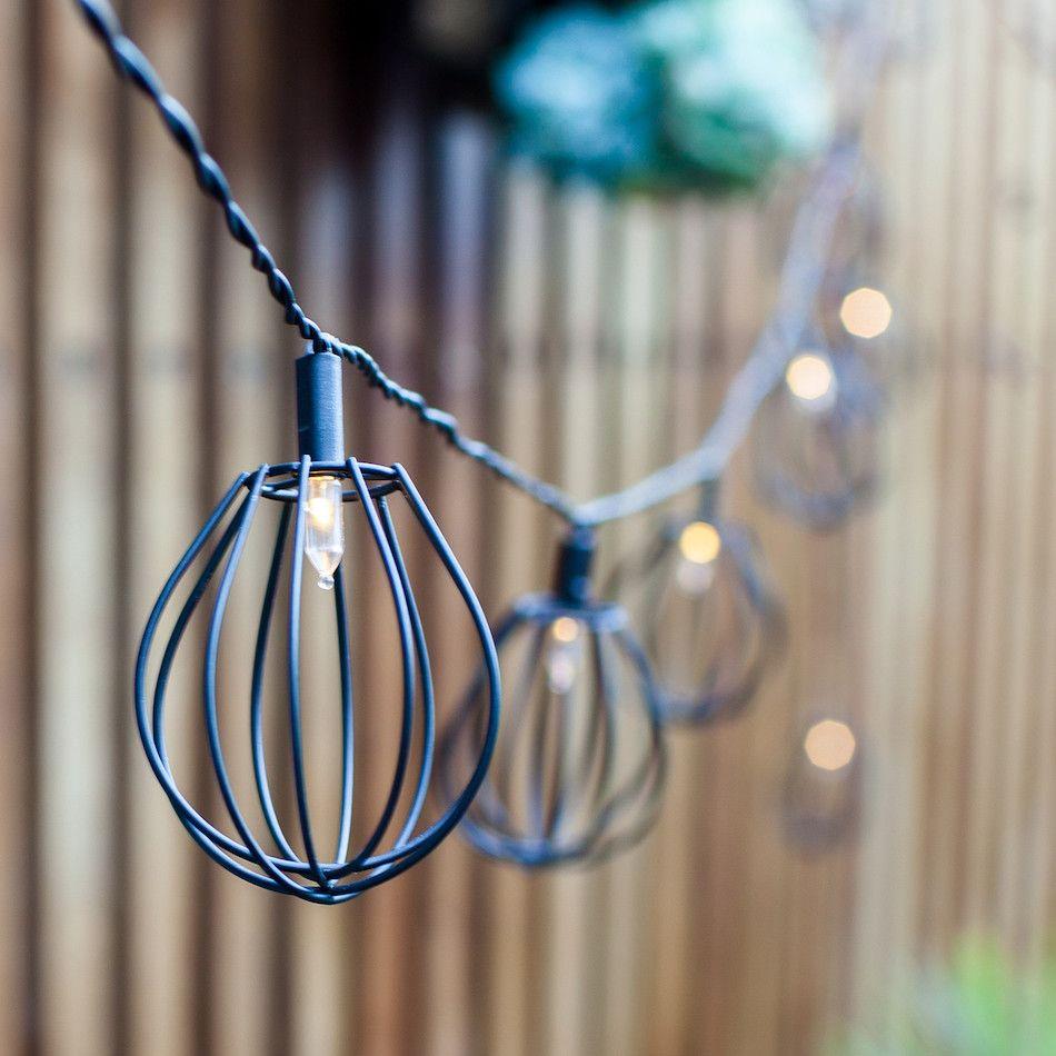 Guirlande Solaire Elwood Mini Cages avec 10 LED envies