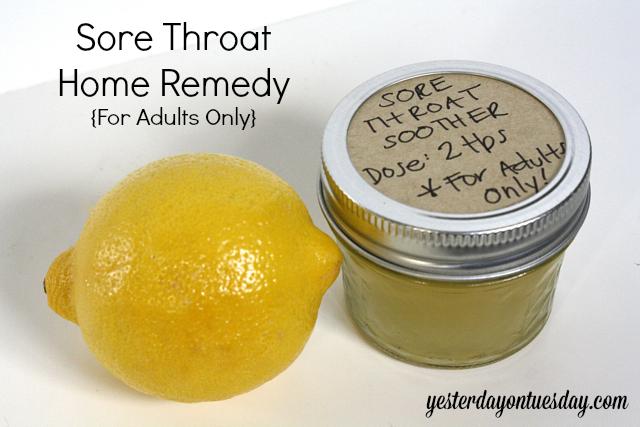 Home Sore Throat Remedy 1 4c Lemon Juice 2t Honey And Vodka