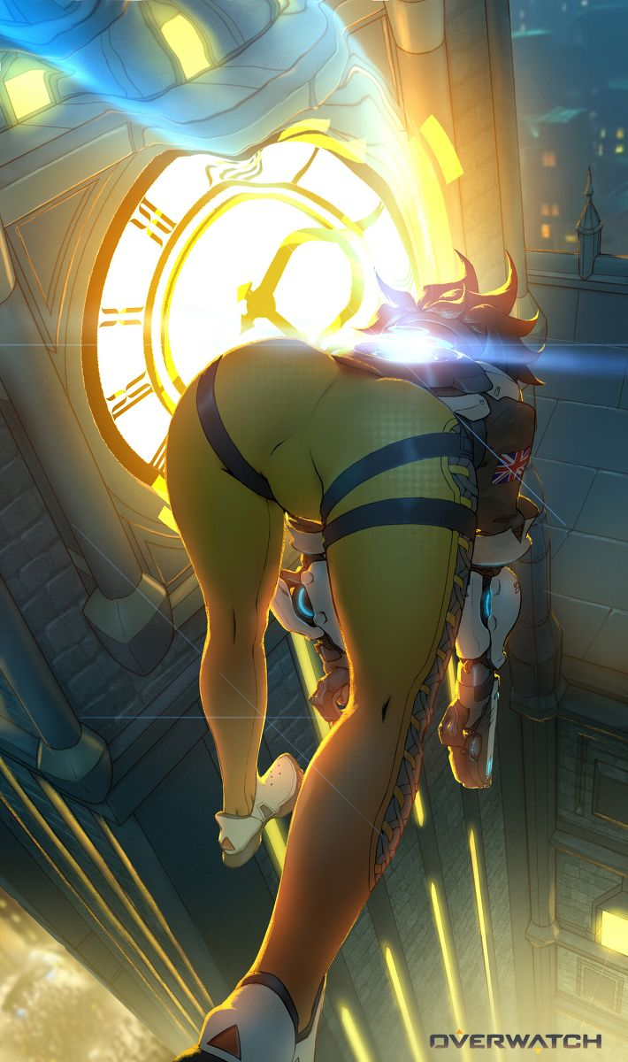 Hot overwatch tracer boobs fanart