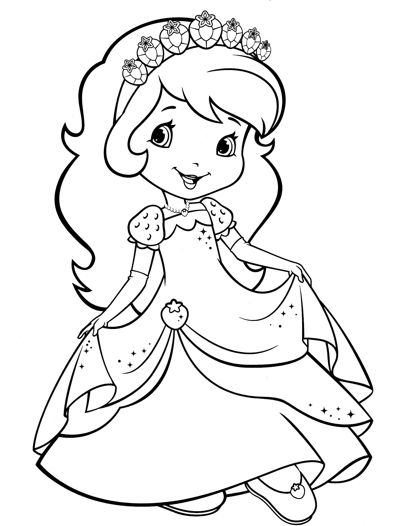 Universal image for strawberry shortcake printable coloring pages