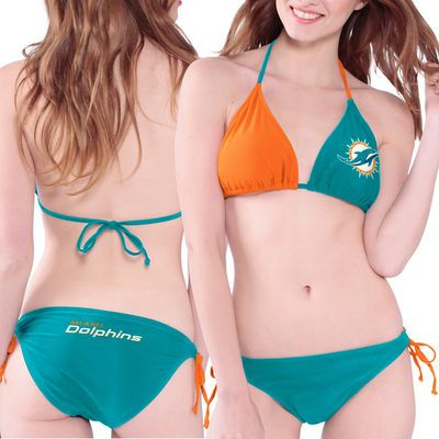 Miami Dolphins Women's Aqua Bikini Set