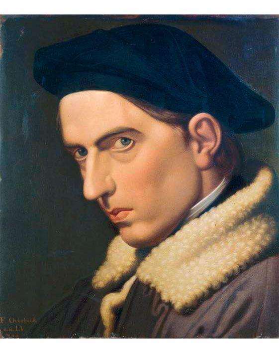 Johann Friedrich Overbeck (1789-1869) • Autoritratto di Johann Freidrich Overbeck, 1844