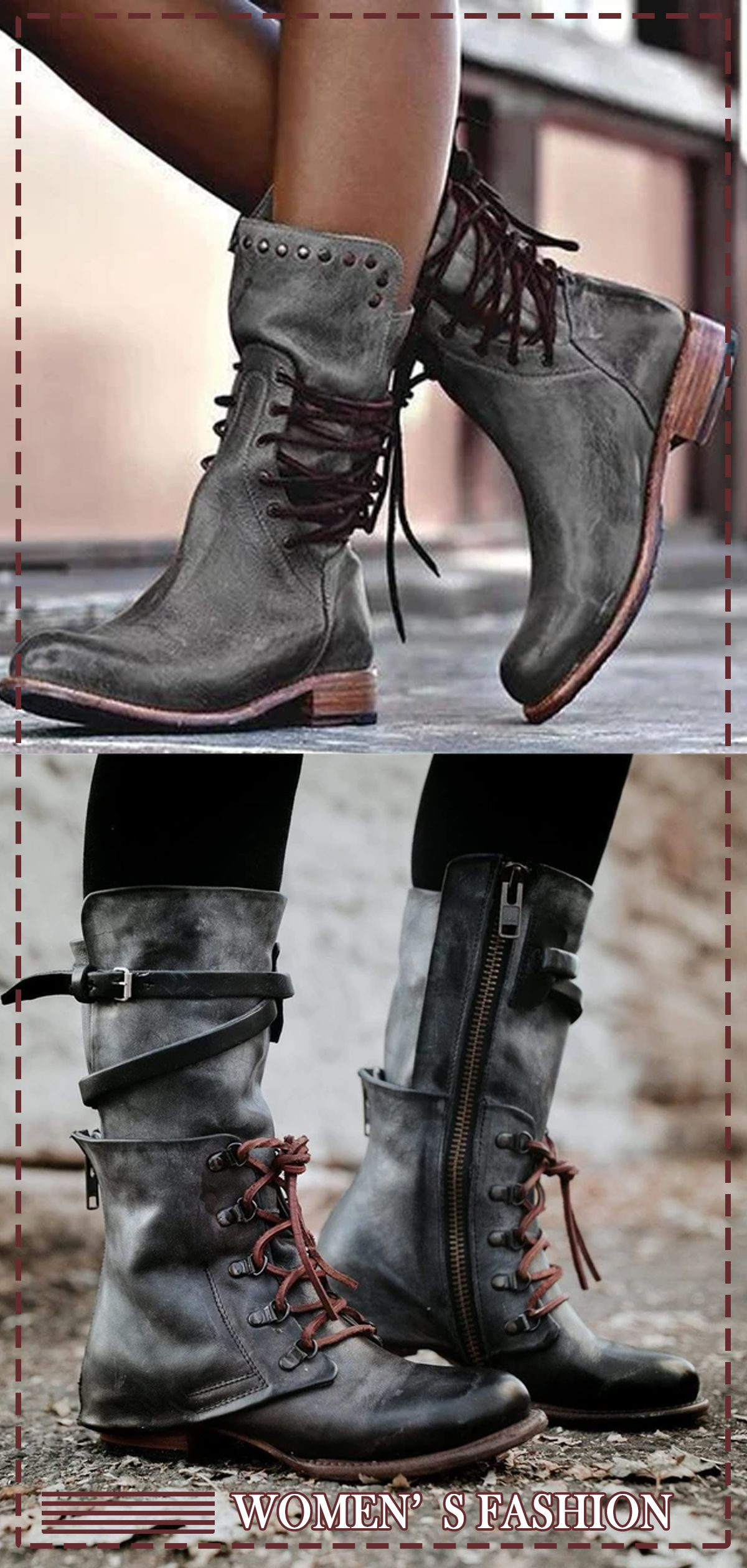 fashion trends, Boots, Faux leather boots