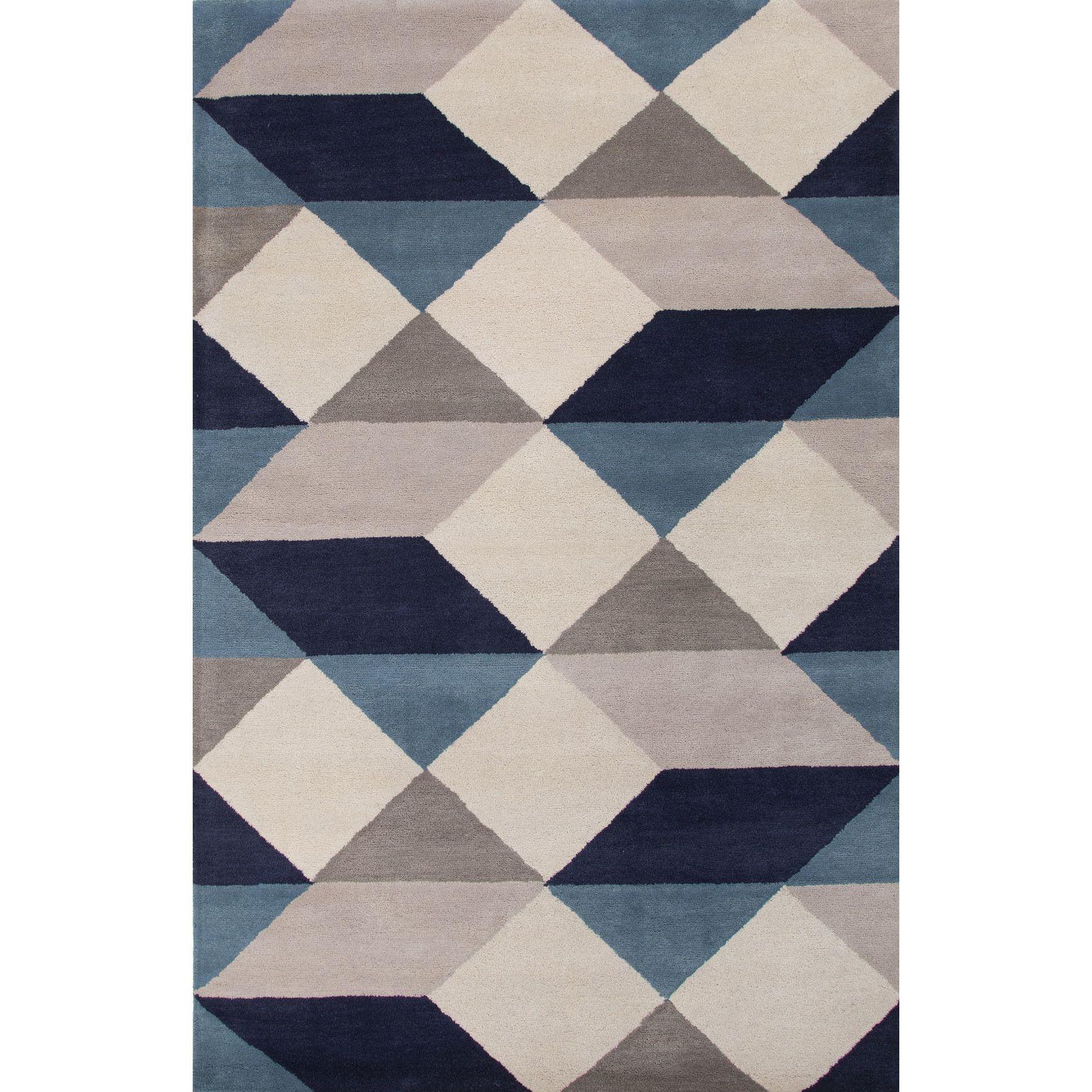 jaipur living en casa gray  blue geometric area rug  szÖnyeg  - jaipur living en casa gray  blue geometric area rug