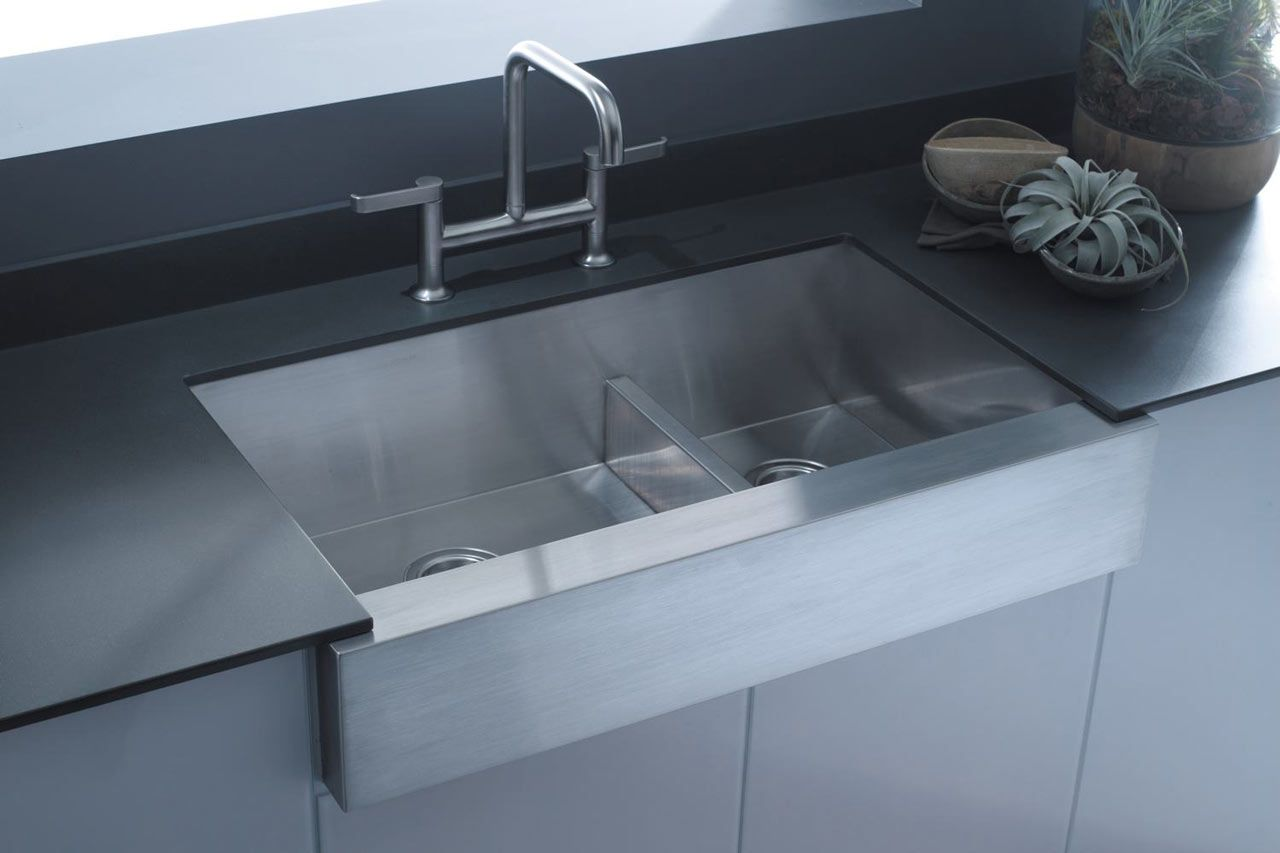 Kohler Farmhouse Sink Stainless Steel With Images Apron Front