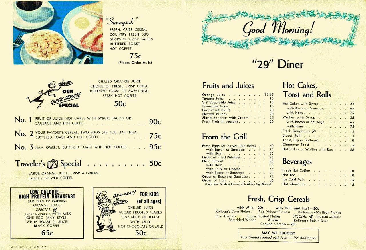 Woolworth Menu 1940s What It Was Like Menus Old School