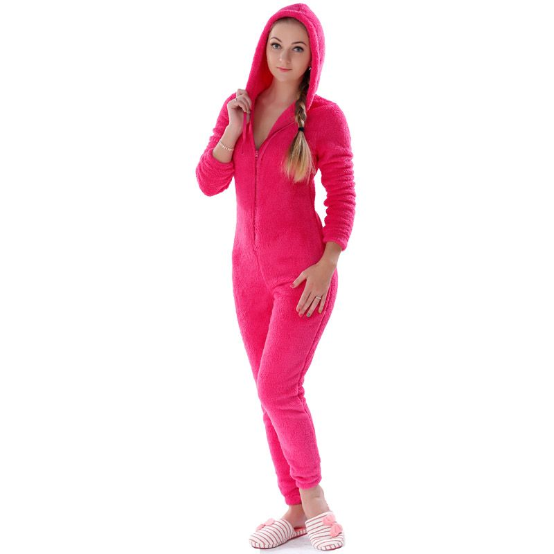 Adults Plus Size Onesie Pajamas Set Girls Pink/ Rose Red Pajamas ...