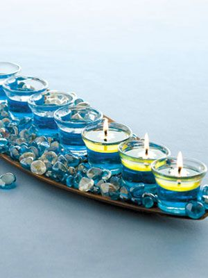 Celebrate Chanukah with Easy-to-Make Glass Menorah at Womansday.Com- Holiday Crafts - Woman's Day