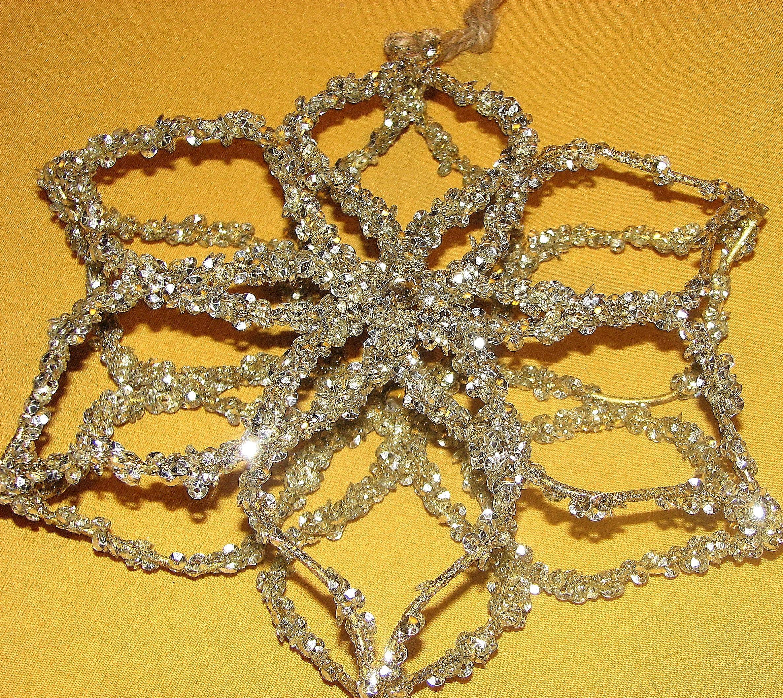 Vintage Metal Glitter Ornament