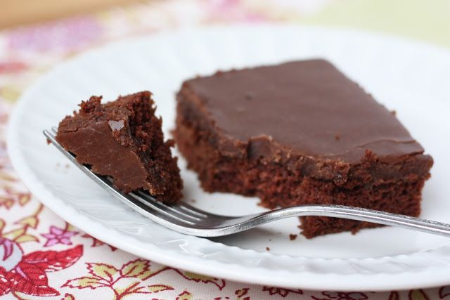 Texas Sheet Cake aka Best Chocolate Cake Ever (printable Gluten