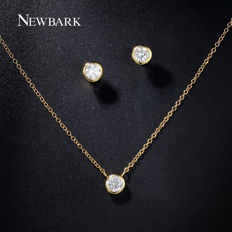 Find More Jewelry Sets Information about NEWBARK Simple Jewelry Sets 18K  Gold… | Small earrings studs, Women's jewelry sets, Simple bridal jewelry