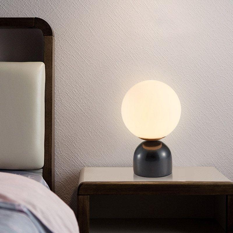Modern Minimalist Black Marble Glass Globe Table Lamp 1 Light Table Lamp In 2021 Lamp Modern Table Lamp Table Lamp